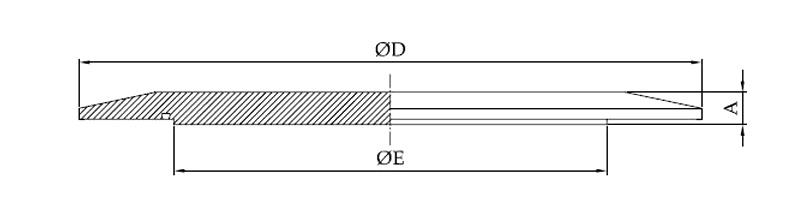 Querschnitt - Cap C Blindflansch für Klemmverbindung