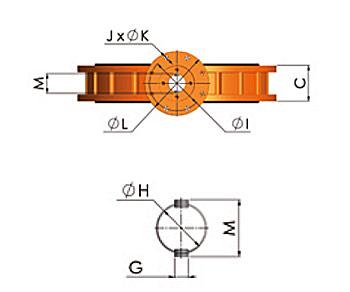 Technischer Querschnitt Absperrklappe 900 DN700-1600