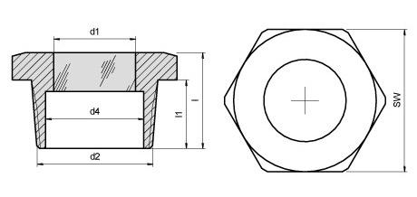 Querschnitt Metaglas Schraubschauglas Typ61 NPT