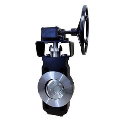 Dreifachexzentrische Absperrklappe mit Schneckenradgetriebe