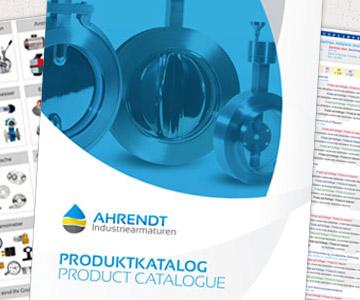 Katalog mit dem gesamten Sortiment an Industriearmaturen und Zubehörteilen
