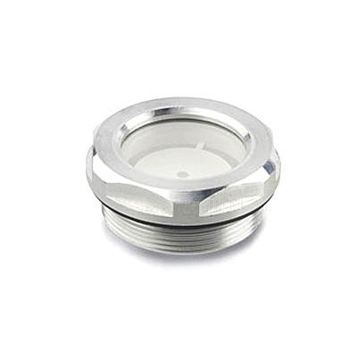 Ölschauglas aus Aluminium mit Naturglasscheibe