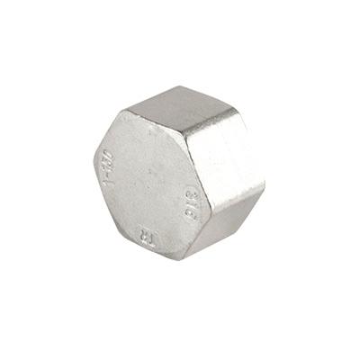 Sechskant-Kappe Endstück (rostfreier Stahl AISI 316) / hexagon cap stainless steel