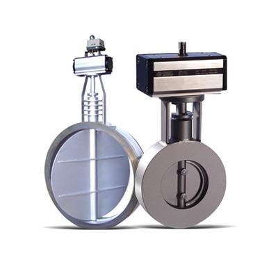 Absperrklappen Serie DV für Dämpfe und hohe Temperaturen