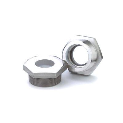 Metallverschmolzenes Schraubschauglas mit NPT-Gewinde